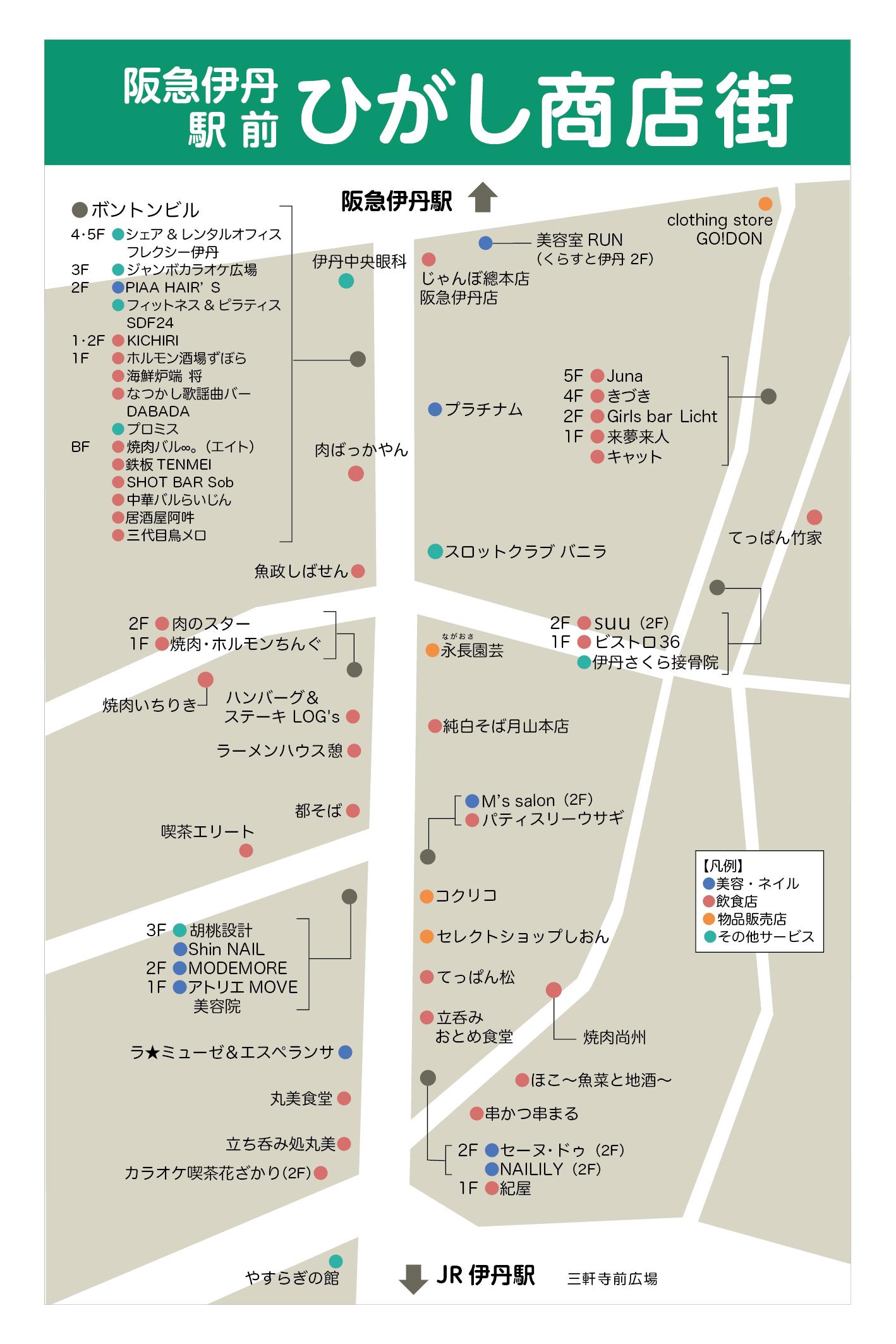 商店街加盟店の地図